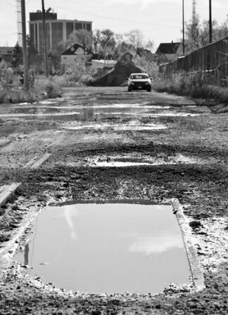 Puddle in the Road