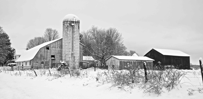 Amish Farm in Winter