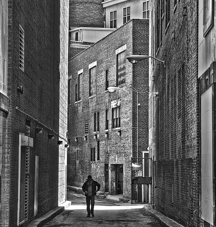 Man in Downtown Alley