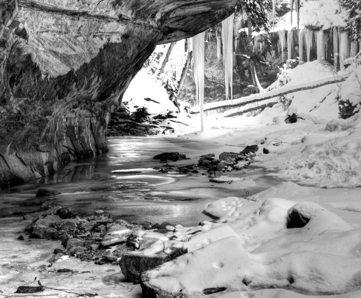 Ice Formations in Stebbins Gulch