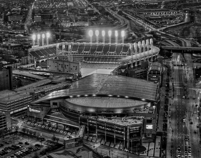 Bird's Eye View of Progressive Field