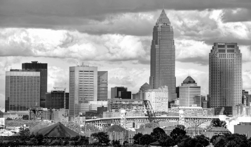 Cleveland Skyline Seen from Edgewater Park