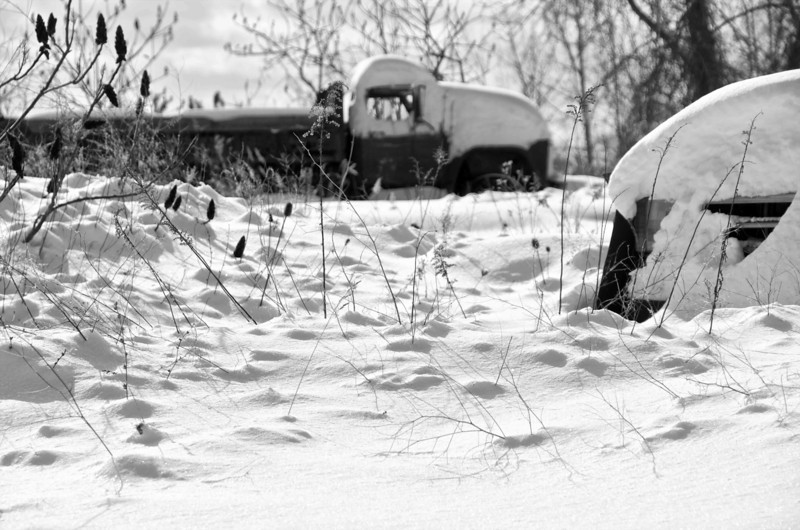 Abandoned Truck in Snow