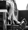 Striped Stockinged Legs