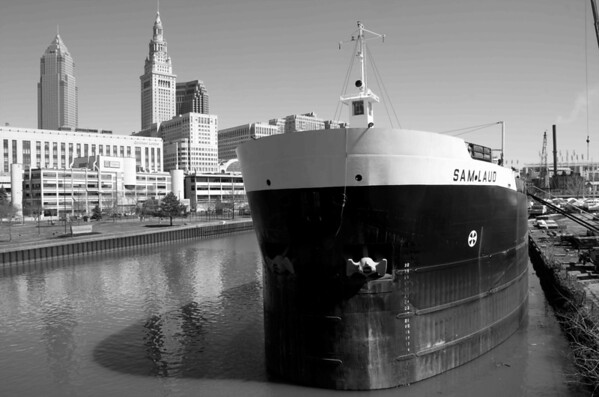 Sam Laud on the Cuyahoga River