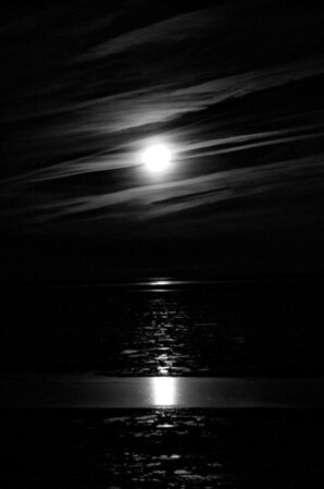 Full Moon over Icy Lake Erie