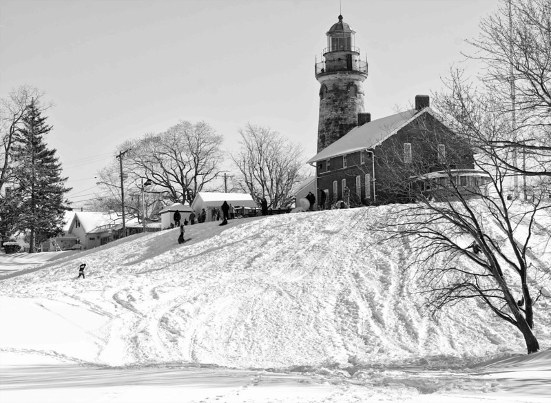 Fairport Harbor Lighthouse in Winter