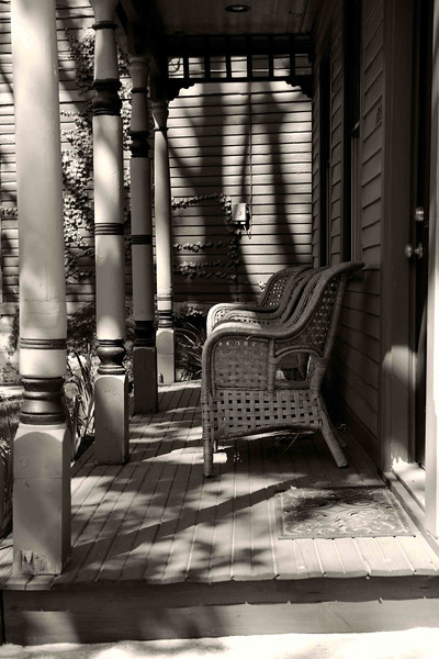 Morning Shadows on Front Porch