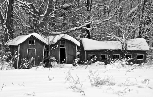 Farm Buildings in the Snow