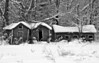 Farm Buildings in the Snow