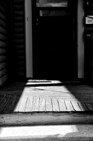 Light and Shadow Play on Porch