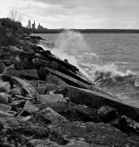 Lake Erie Shoreline in Bratenahl