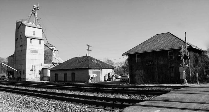 Rural Ohio Railroad Station