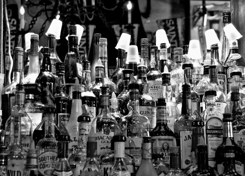 French Quarters Booze Bottles