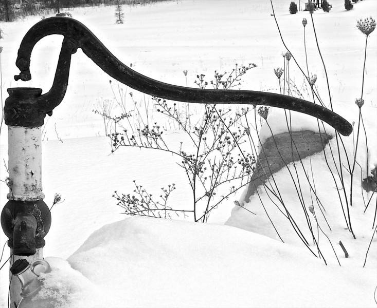 Old Pump in the Snow