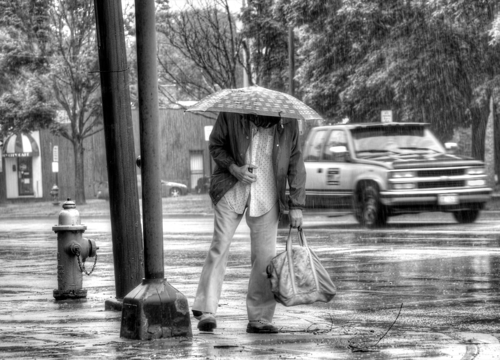 Rainy Cleveland Street Corner