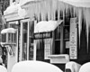 Icicles on Ice Cream Store