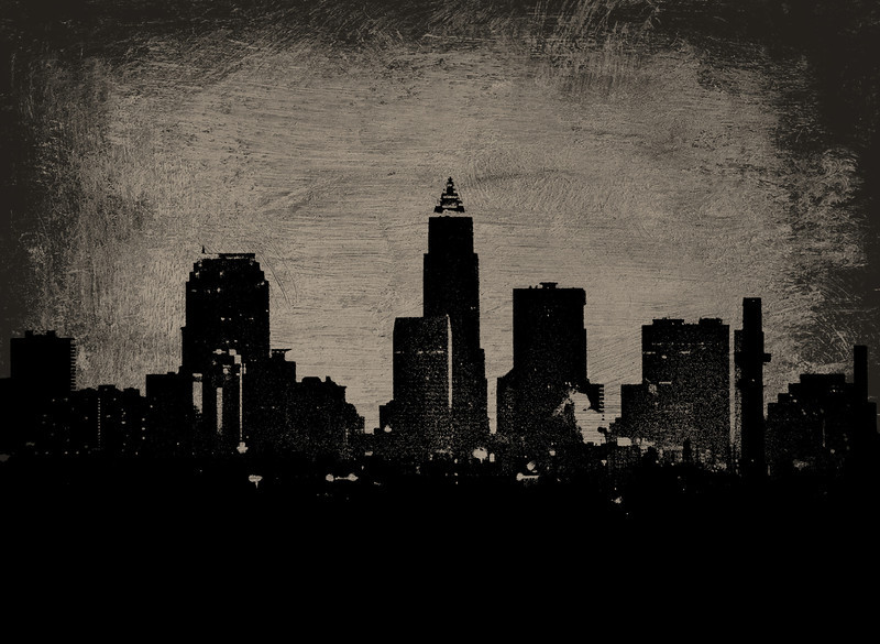 Cleveland Skyline in Abstract