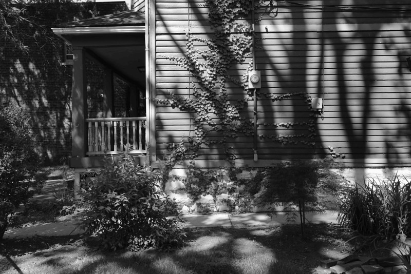 Light and Shadows on Side of House