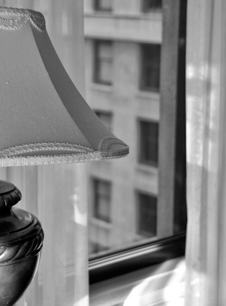 Hotel Room Lamp and Window