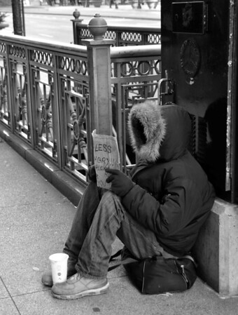 Faceless Homeless Man