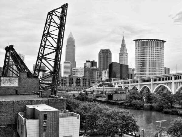 Downtown Cleveland Seen From Superior Viaduct
