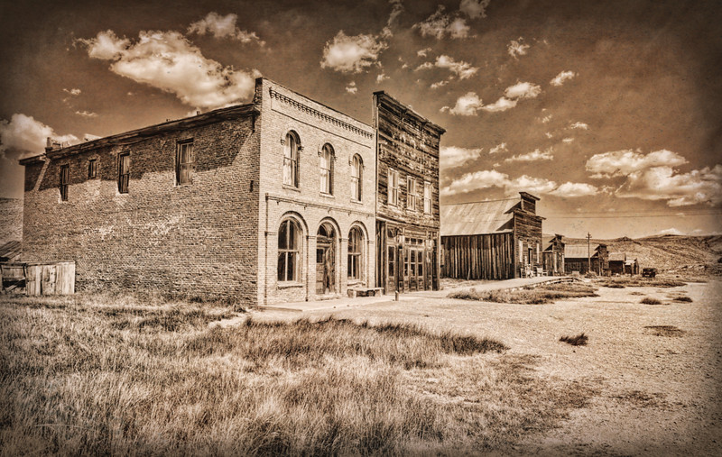 What's left standing along Main Street in Bodie, CA