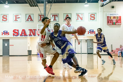 Broughton varsity boys basketball vs Sanderson. January 9, 2018.