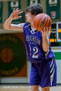Broughton boy's JV basketball vs. Cardinal Gibbons. February 1, 2018.