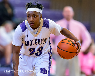 Broughton girl's varsity basketball vs Leesville. January 30, 2018.
