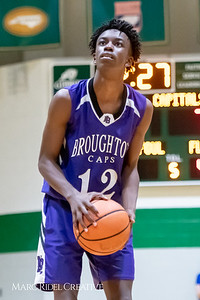 Broughton JV boys basketball vs Cardinal Gibbons. February 7, 2019. MRC_3884