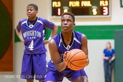 Broughton JV boys basketball vs Cardinal Gibbons. February 7, 2019. MRC_3857