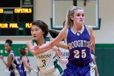 Broughton JV girls basketball vs Cardinal Gibbons. February 7, 2019. 750_3074