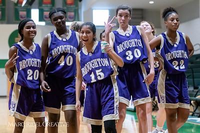 Broughton JV girls basketball vs Cardinal Gibbons. February 7, 2019. 750_3090
