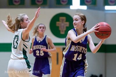 Broughton JV girls basketball vs Cardinal Gibbons. February 7, 2019. 750_3021