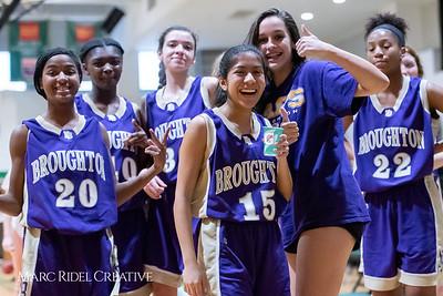 Broughton JV girls basketball vs Cardinal Gibbons. February 7, 2019. 750_3092