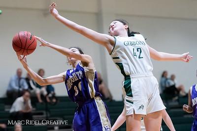 Broughton JV girls basketball vs Cardinal Gibbons. February 7, 2019. 750_3019
