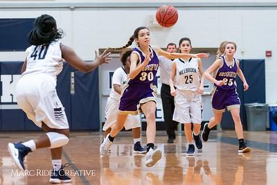 Broughton JV girls basketball vs Millbrook. January 22, 2019. MRC_1700