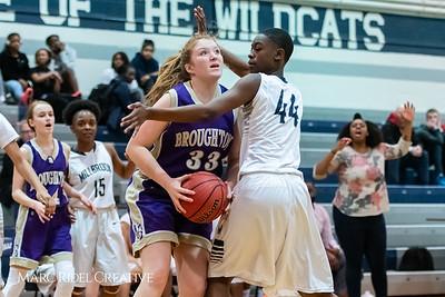 Broughton JV girls basketball vs Millbrook. January 22, 2019. MRC_1732