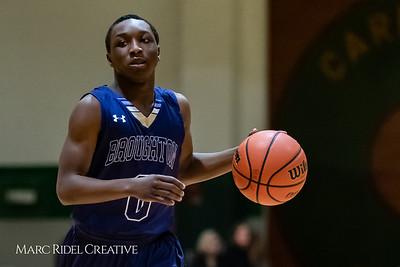 Broughton boys varsity basketball vs Cardinal Gibbons. January 11, 2019. 750_2435