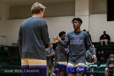 Broughton boys varsity basketball vs Cardinal Gibbons. January 11, 2019. MRC_1310