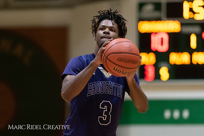 Broughton boys varsity basketball vs Cardinal Gibbons. January 11, 2019. 750_2479