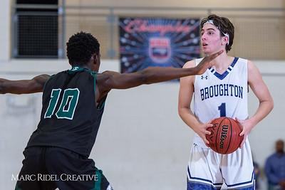Broughton boys varsity basketball vs Enloe. January 4, 2019. 750_1239