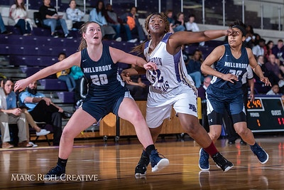 Broughton girls varsity basketball vs Millbrook. February 15, 2019. 750_7268
