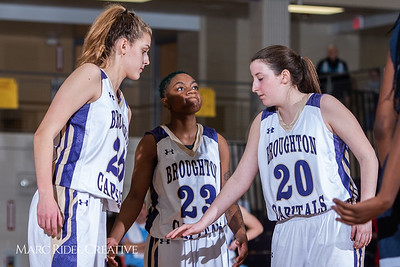 Broughton girls varsity basketball vs Millbrook. February 15, 2019. 750_7349