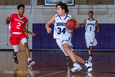 Broughton boys JV basketball vs Sanderson. February 11, 2019. 750_5604