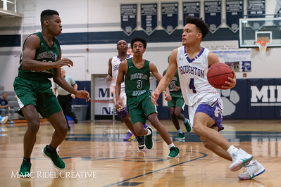 Broughton boys varsity basketball vs Southeast Raleigh. Cap-7 semi-finals at Millbrook. February 21, 2019. D4S_0572