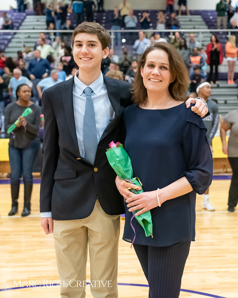 Broughton basketball senior night and Coach Farrell appreciation. February 15, 2019. 750_7448