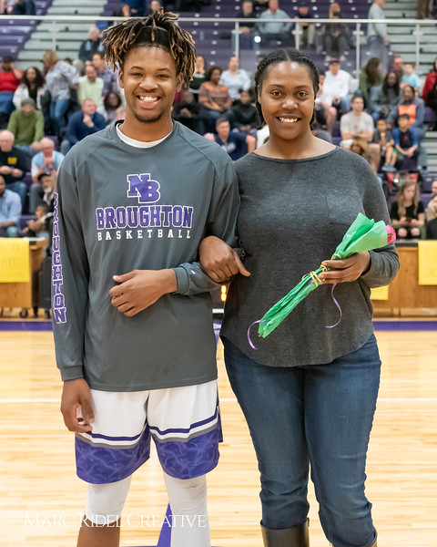 Broughton basketball senior night and Coach Farrell appreciation. February 15, 2019. 750_7424