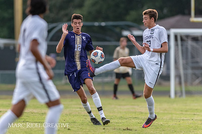 Broughton varsity soccer vs. Green Hope. August 15, 2018.